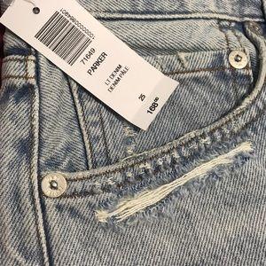 Agolde Shorts - AGOLDE Parker Cutoff Denim shorts